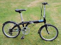 Tern C7 folding bike (light blue on black) in unused mint condition + documents