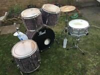 Pearl drum kit (customised)