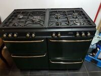Range Cooker Dual Fuel: Used, working 7 Gas Burners, 2 Electric Ovens, 1 Grill + Drawer - £60 ONO