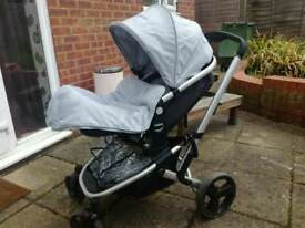Next to new pram with removable car seat