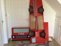 Child's Fire Engine bed frame