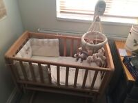 Mamas & Papas Crystal Gliding Crib & Once Upon a Time Cribset& Musical Mobile
