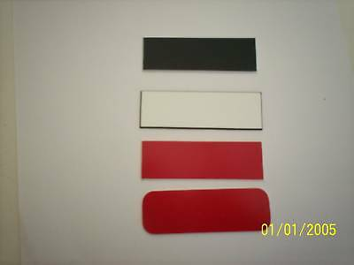 25 Blank Name Badges Tags Without Pins 1x3 Choices