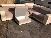 Dfs corner sofa and footstool. Delivery