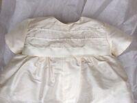 Handmade silk christening/ baptism romper - never worn