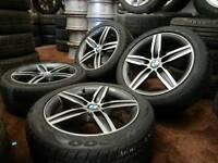 "Genuine BMW Style 379 star spoke F20 F21 1 series 17"" alloy wheels + four good 205/50R17 tyres"