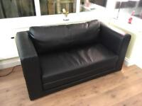 Ikea Askeby 2 seater sofa bed hardly used in black