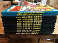 Beezer Annuals between 1979 and 1992 (1982 and 1991 missing)
