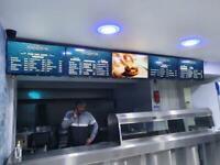 Signage screens- menu boards- advertising screens