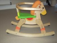 Baby Wooden Rocking Horse Made By Trudi
