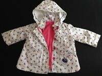 Baby girl French designer Sergent Major waterproof jacket - up to 6 months