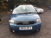 Audi a2 1.6 11months mot panaramic roof great condition