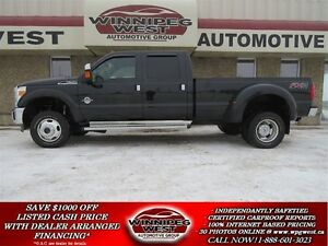2013 Ford F-350 LARIAT CREW DUALLY 4X4, DIESEL, NAVIGATION, SUNR