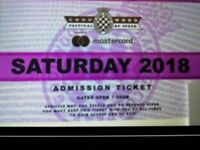 Goodwood Saturday 14th ticket