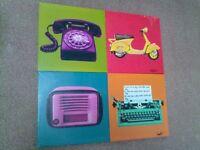 x4 Colourful Canvas Prints