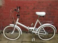 MENS/LADIES, FOLDING BIKE/CYCLE, IN VERY GOOD CONDITION 3 SPEED STURMEY ARCHER GEARS, KICK STAND, RE