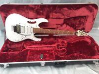 Ibanez JEMJR JEM Junior Steve Vai Guitar in White- inc ibanez hard case