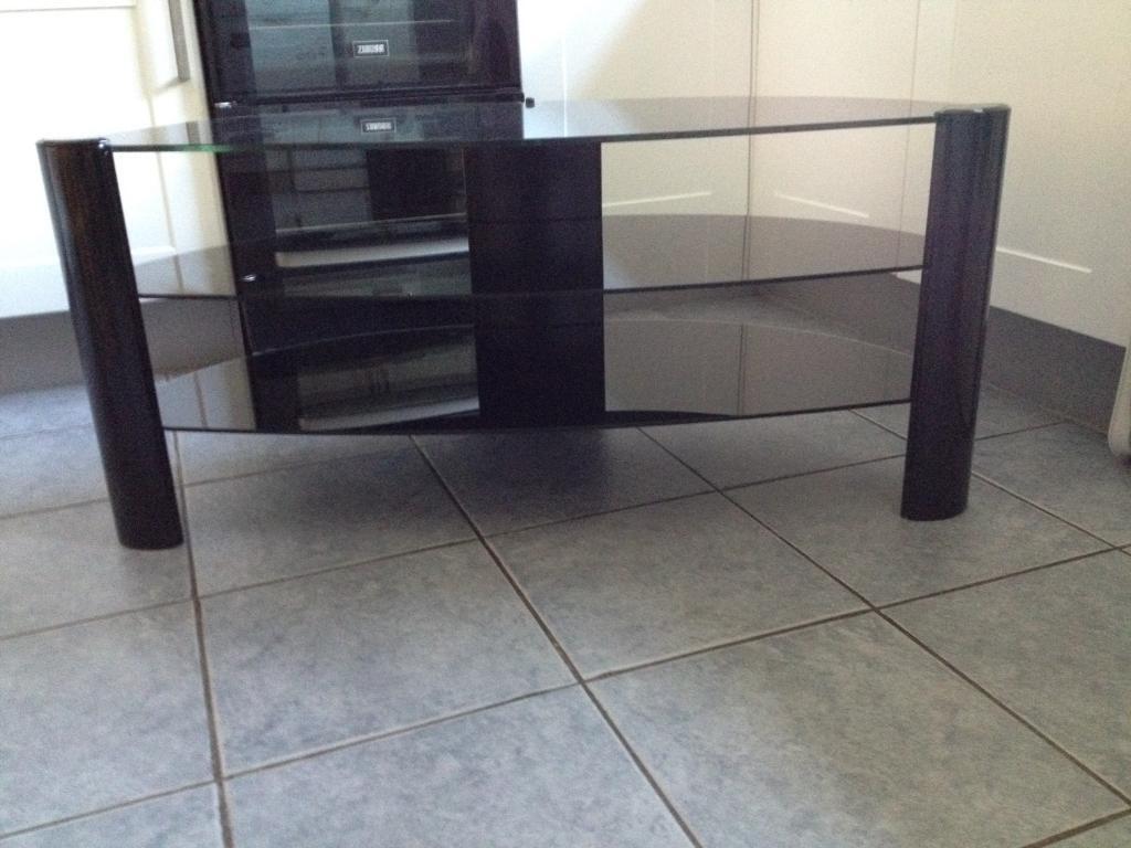 TV glass unit smoked