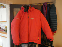 Outdoor hardshell and and softshell jackets and trousers