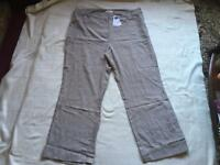 M&Co ladies cotton trousers brand new size 20 new £12