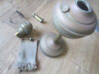 antique Belgian Lempereur & Bernard oil paraffin lamp