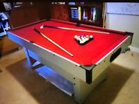 Pool Table, Red Baize