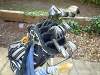 Golf clubs and equipment