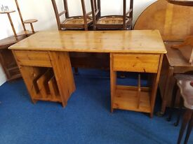 Solid Pine Double Pedestal Desk
