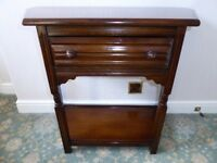 Old Charm Jaycee Oak Canted Console Table, Hall Table, Side Table