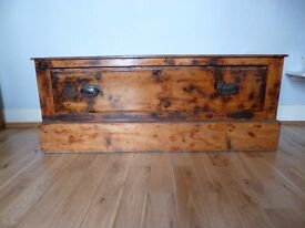 Victorian Pine chest with drawer