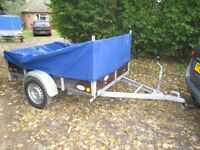 6-8 X 4-5 GOODS TRAILER (750KG UNBRAKED) WITH LADDER RACK & COVER....