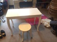 White two piece Dressing Table