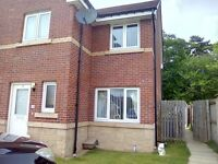 new build 3 bed semi detached eliburn ,looking for 3/4 bed house