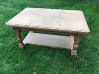 Small pine furniture coffee table - requires painting