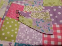 "As new Dunelm Mill Ditsy Patchwork curtains 66""x54"""