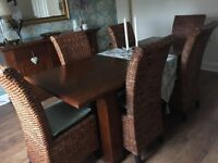 Dining Table 6 Chairs And Sideboard All To Match