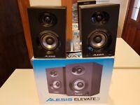 Alesis Elevate 3 Powered Desktop Studio Speakers - Excellent condition - absolute bargain -