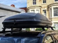 Car roof box - 50kg load, with fixings and 2 keys