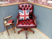 Stunning Leather Chesterfield Capetians Chair