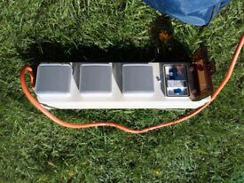 Caravan / Camping Mains Hook Up 3 Sockets. Hookup