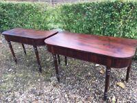 Antique georgian end D tables