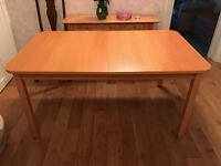 Dining table. Ikea extendable beech finish dining table free to collect