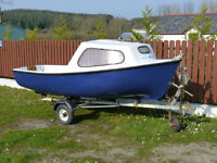 12 ft fishing boat with cuddy and trailer