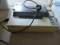 Vintage Epson FX 850 Dot Matrix printer and box of paper
