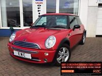 2006 06 MINI 1.6 One~LOW MILES~1 YR MOT WITH SALE~HISTORY~RED~AYR~