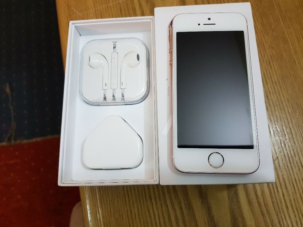 Apple Iphone Se 64gb Rose Gold Three Locked Phone In Barking