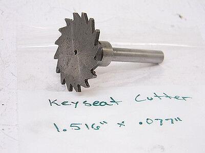 Used Keyseat Cutter 1.516 X .077 Hss Shank .275