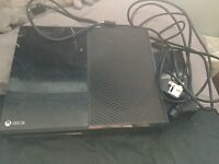 Xbox One 500GB, In working condition but minor scratches on top. No controller. All leads included
