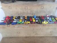 Bundle of toy cars including hot wheels