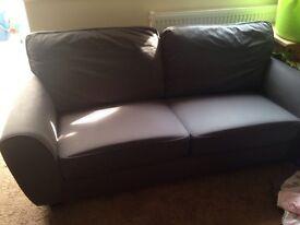 Grey 2-seater sofa